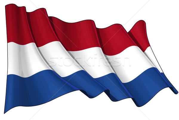 Flag of Netherlands Stock photo © nazlisart