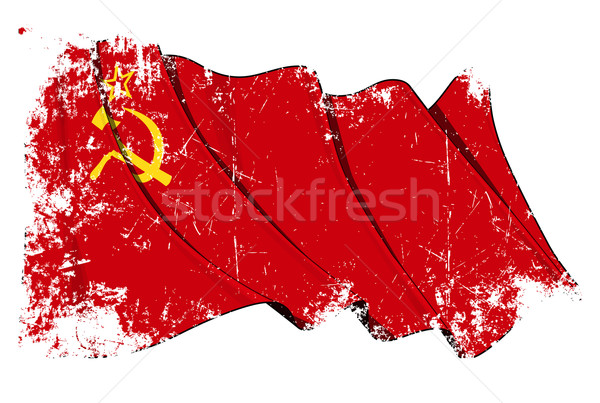Soviet Union flag Grunge Stock photo © nazlisart