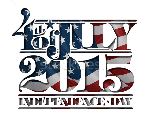 4th of July Cut-Out 2015 Independance Day Stock photo © nazlisart
