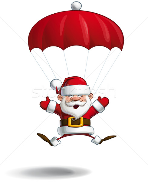 Happy Santa - Parachute Open Hands Stock photo © nazlisart