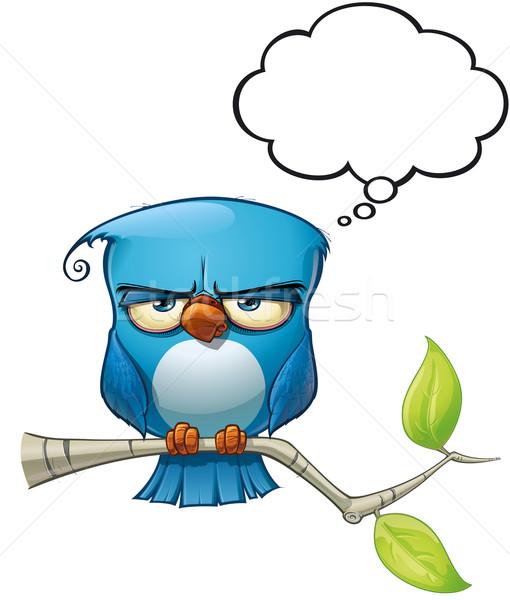 Kék madár komoly stílus hozzászólások vélemények Stock fotó © nazlisart