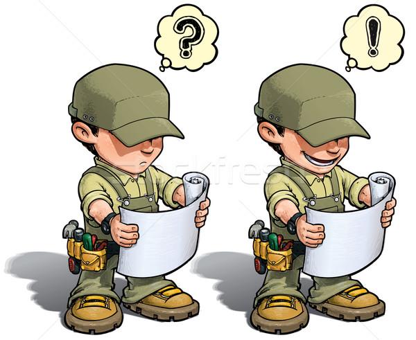 Handyman - Reading Plan Khaki Stock photo © nazlisart