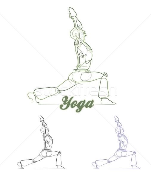 Yoga Pose 1 Stock photo © nazlisart