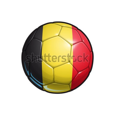 Zászló futball futballabda színek összes elemek Stock fotó © nazlisart