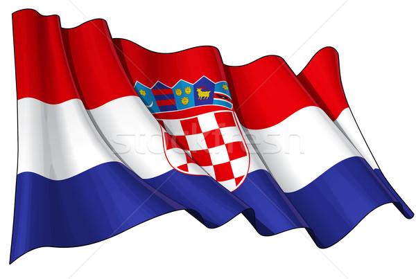 Croatian Flag Stock photo © nazlisart
