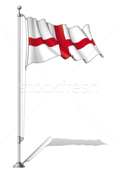 Flagge Pol england separaten Stock foto © nazlisart