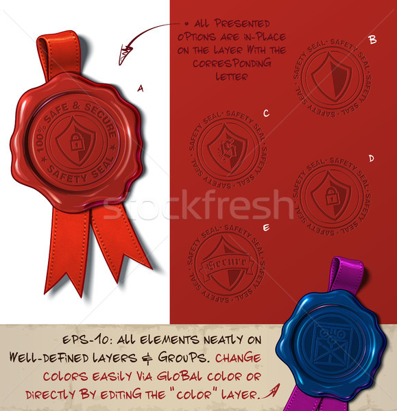 Wax Seal - Shield Sefe and Secure Stock photo © nazlisart