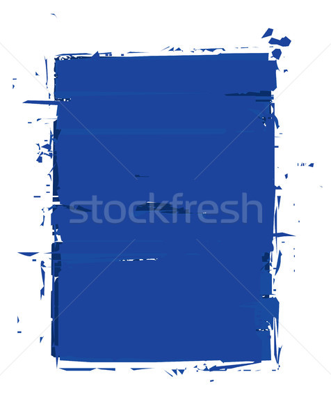Grunge Frame - Blue Stock photo © nazlisart