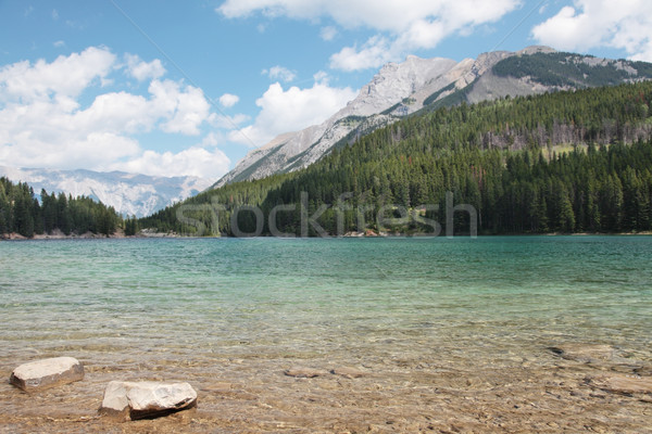 Yay göl dağ kaya Stok fotoğraf © ndjohnston