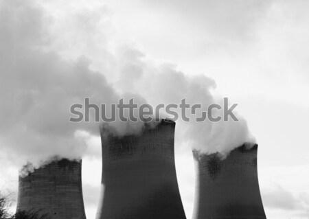 Kirlenme endüstriyel siyah enerji tuğla gri Stok fotoğraf © ndjohnston