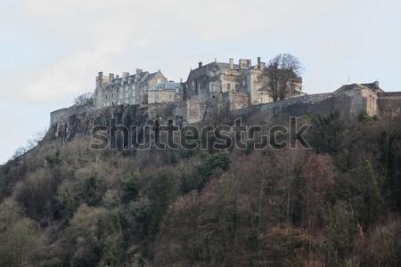 замок Шотландии деревья зима осень древних Сток-фото © ndjohnston