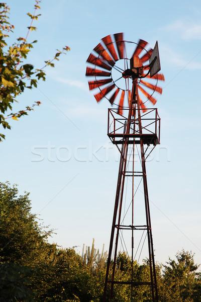 Paslı fırıldak eski rüzgâr hareket bulanık Stok fotoğraf © ndjohnston