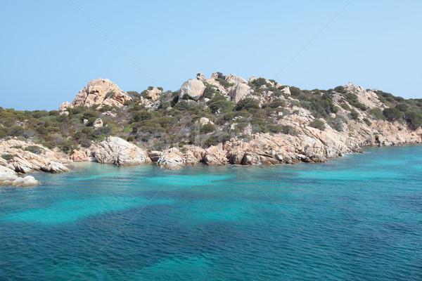 Deniz kayalar fotoğrafçılık sahil turkuaz Stok fotoğraf © ndjohnston