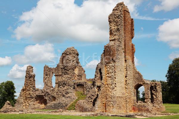 Château ruines médiévale brique architecture tour Photo stock © ndjohnston
