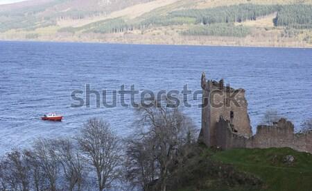 замок стены каменные Шотландии Сток-фото © ndjohnston