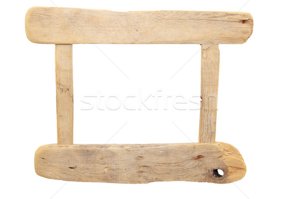 Rustikal Bilderrahmen heraus Holz Korn Stock foto © ndjohnston