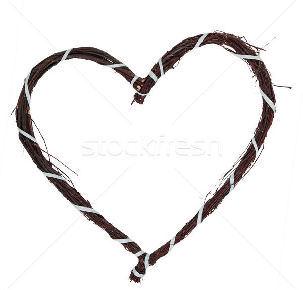Liebe Herz blau Hintergrund Rahmen Band Stock foto © ndjohnston