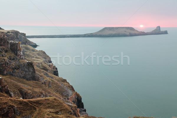 Kopf Sonnenuntergang Stock foto © ndjohnston