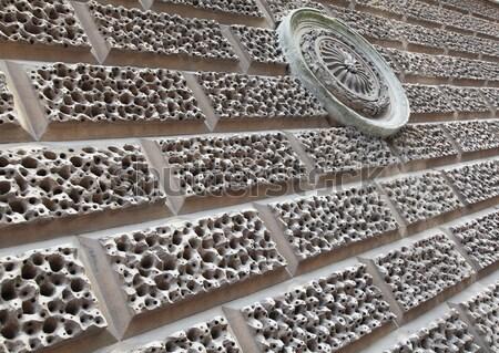 кирпичная стена необычный стены фон кирпичных Сток-фото © ndjohnston