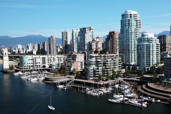 Vancouver şehir merkezinde tekneler ön plan Stok fotoğraf © ndjohnston