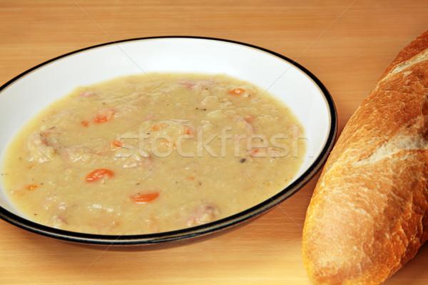 Jambon soupe rouge carottes Photo stock © ndjohnston