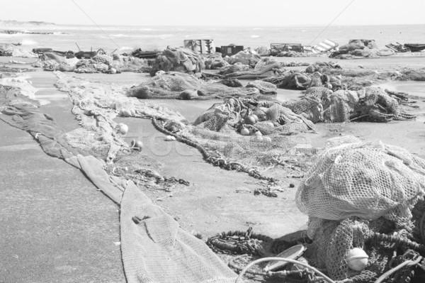 рыбалки промышленности черный коммерческих монохромный Сток-фото © ndjohnston