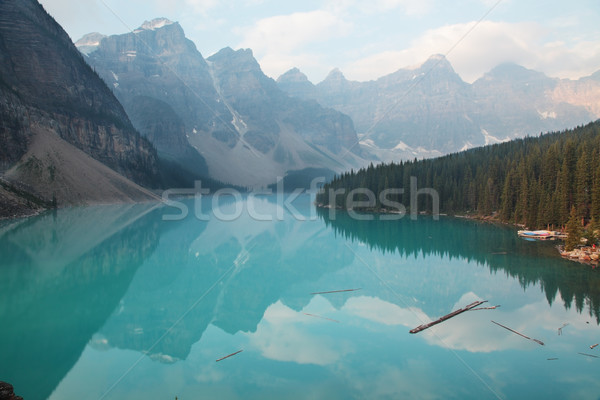湖 堆石 木材 山 ストックフォト © ndjohnston