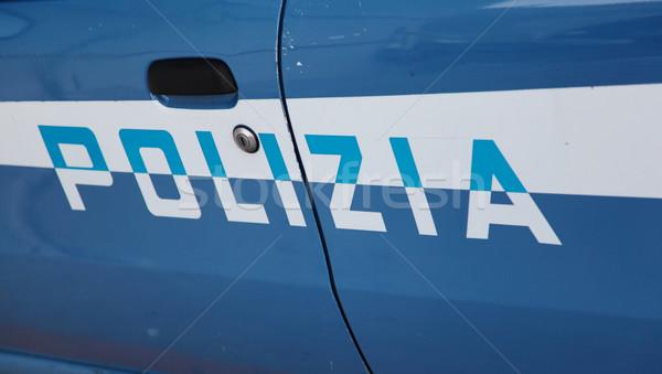 Italiano policía coche Foto stock © ndjohnston