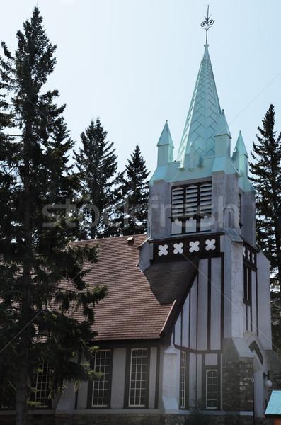 église arbres Photo stock © ndjohnston