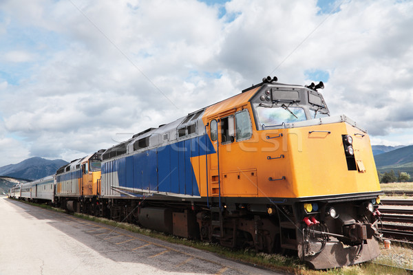Zug blau Reise Kanada Stock foto © ndjohnston
