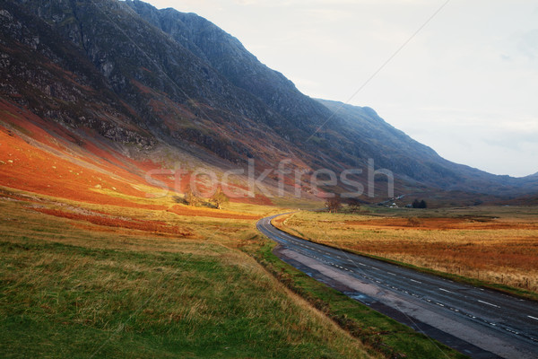 Road through the Scottish Highlands Stock photo © ndjohnston