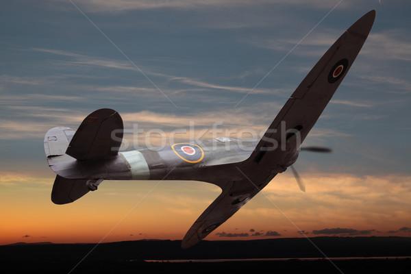 британский облака войны полет самолет Flying Сток-фото © ndjohnston