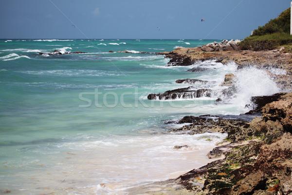 Sörfçü nokta Barbados Stok fotoğraf © ndjohnston