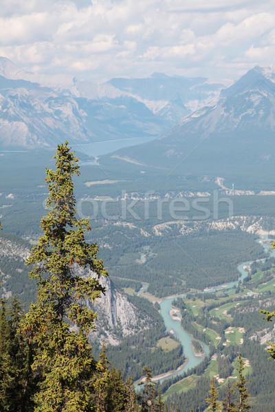 über Bogen Tal Fluss Stock foto © ndjohnston