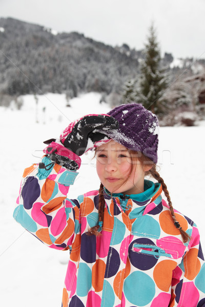 Nina nieve sombrero Foto stock © ndjohnston