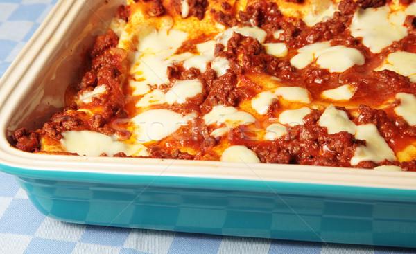 Lasagna pomodoro piatto verificare italiana Foto d'archivio © ndjohnston