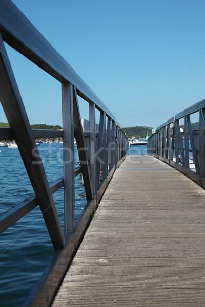Pier Metall Meer Boot Resort Stock foto © ndjohnston