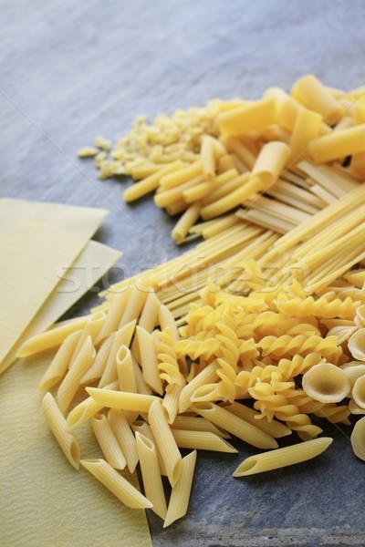 Pasta grano spaghetti sani conchiglie varietà Foto d'archivio © neillangan