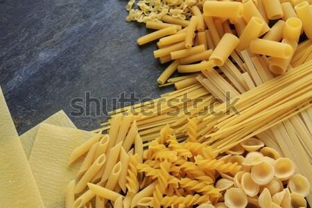 Makarna buğday spagetti sağlıklı kabukları Stok fotoğraf © neillangan