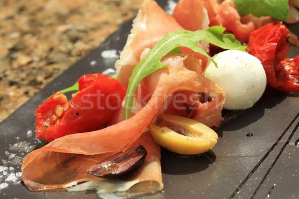 antipasto on slate  Stock photo © neillangan