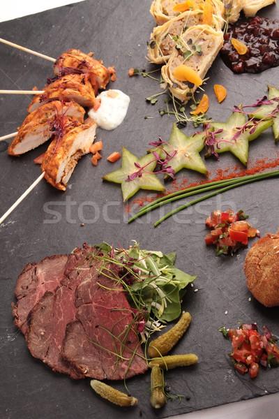 Photo stock: Mixte · alimentaire · salade · modernes · repas · choix