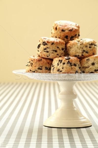 Segurelha oliva bolo sobremesa inglês britânico Foto stock © neillangan