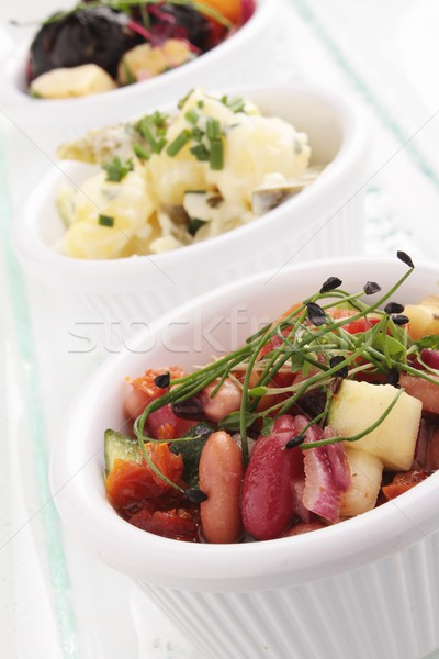Buffet koud salade voedsel diner lunch Stockfoto © neillangan