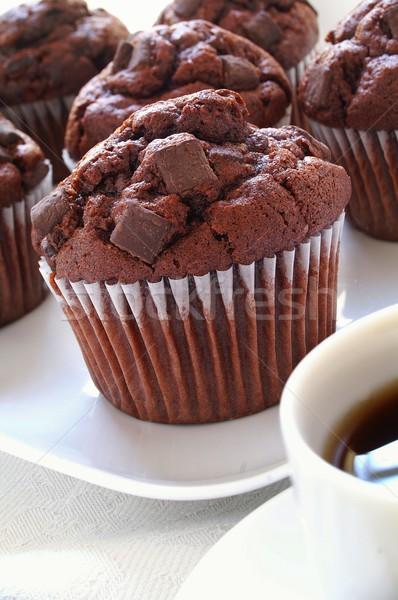 Stok fotoğraf: çikolata · taze · yonga · kahve