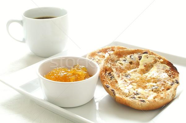 Tost çay kekler reçel gıda Stok fotoğraf © neillangan