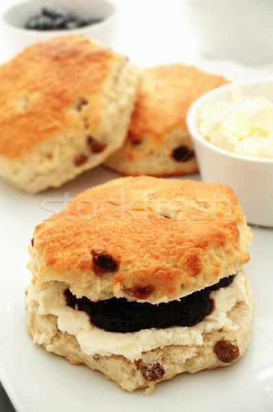 Lezzetli zeytin kek tatlı İngilizce İngilizler Stok fotoğraf © neillangan