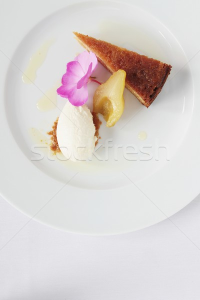 Spons dessert peer lunch zoete Stockfoto © neillangan