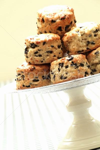 чабер оливкового торт десерта английский британский Сток-фото © neillangan