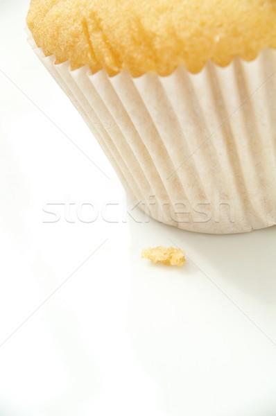 Fincan kekler gıda tatlı öğle yemeği sarı Stok fotoğraf © neillangan