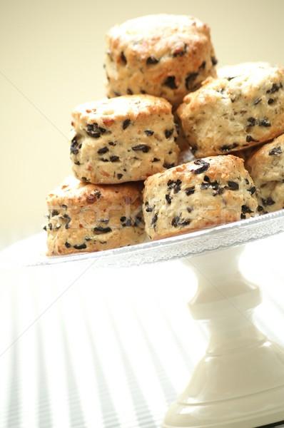 Borsikafű olajbogyó torta desszert angol brit Stock fotó © neillangan